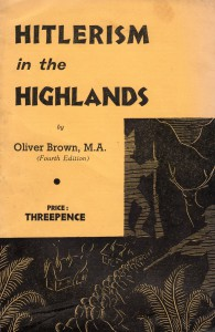 Hitlerism in the Highlands Oliver Brown