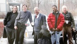 Handout photo of John Prendergast, Eric Reeves, Brian D'Silva, Ted Dagne and Roger Miller